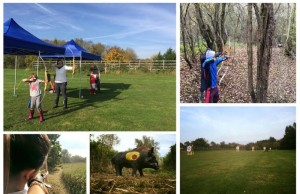 Archery range with practice range and woodland courses