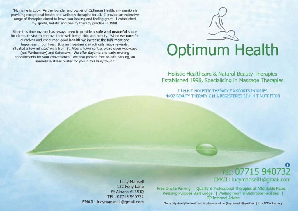 Optimum Health Beauty, Massage and Holistic Therapy
