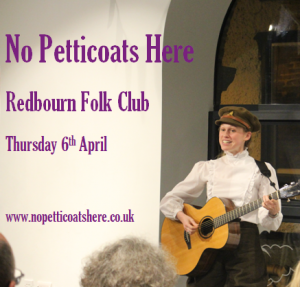 No Petticoats Here, performed by singer and musician Louise Jordan
