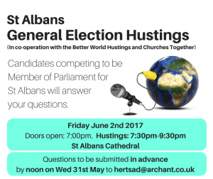 General Election Hustings (incorporating Better World Hustings)