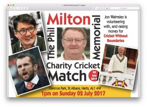 Phil Milton Memorial Charity Cricket Match