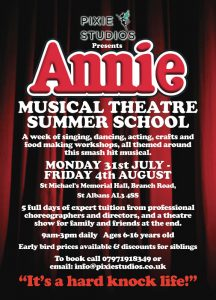 Pixie Studios Musical Theatre Camp