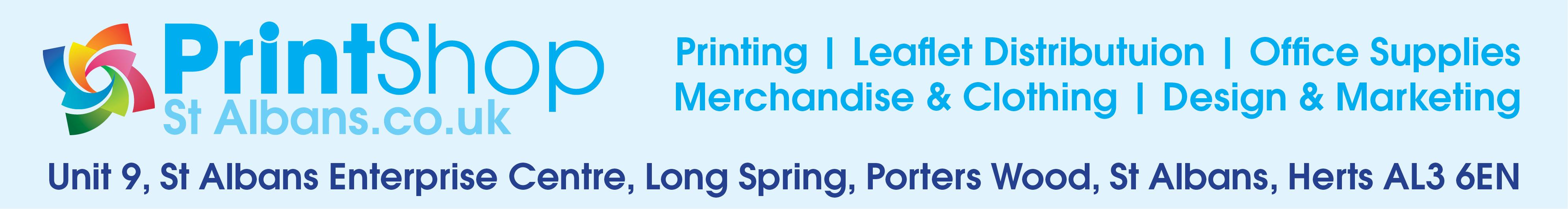 Print Shop St Albans leaflets business cards posters