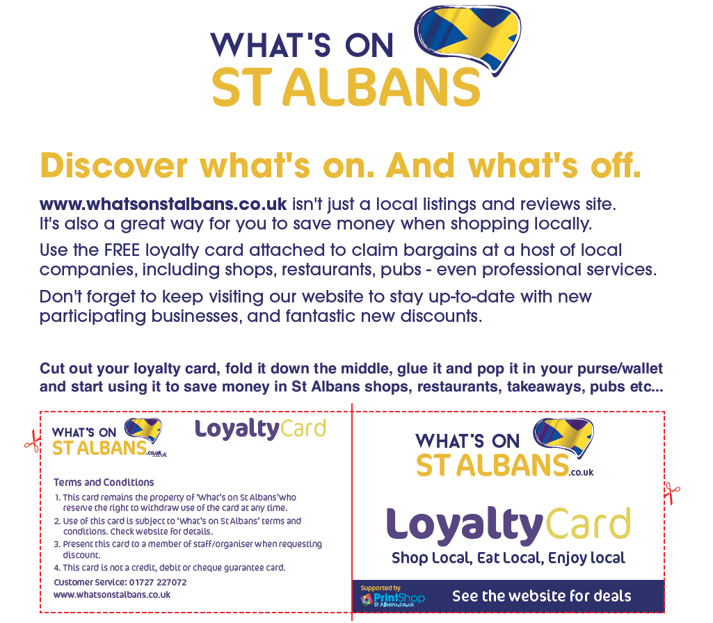 whats on st albans money saving discounts loyalty