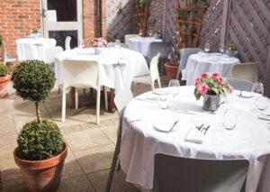 outdoor terrace st albans thompson restaurant fine dining